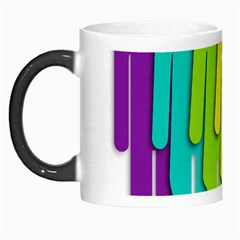 Trans Gender Purple Green Blue Yellow Red Orange Color Rainbow Sign Morph Mugs