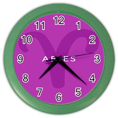 Zodiac Aries Color Wall Clocks