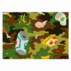 Urban Camo Green Brown Grey Pizza Strom Large Glasses Cloth (2 Side)