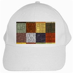 Blocky Filters Yellow Brown Purple Red Grey Color Rainbow White Cap