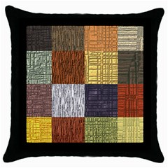 Blocky Filters Yellow Brown Purple Red Grey Color Rainbow Throw Pillow Case (Black)
