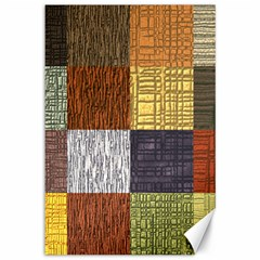Blocky Filters Yellow Brown Purple Red Grey Color Rainbow Canvas 12  x 18