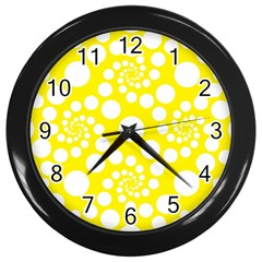 Pattern Wall Clocks (Black)