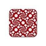 Pattern Rubber Square Coaster (4 pack)  Front
