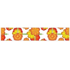 Colorful Stylized Floral Pattern Flano Scarf (Large)