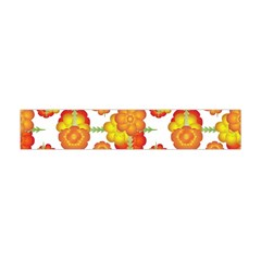 Colorful Stylized Floral Pattern Flano Scarf (Mini)