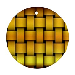 Rough Gold Weaving Pattern Ornament (Round)