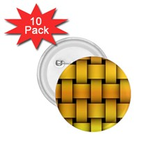 Rough Gold Weaving Pattern 1.75  Buttons (10 pack)