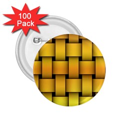 Rough Gold Weaving Pattern 2 25  Buttons (100 Pack)