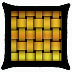 Rough Gold Weaving Pattern Throw Pillow Case (Black)