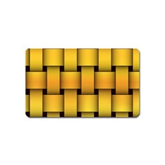 Rough Gold Weaving Pattern Magnet (Name Card)