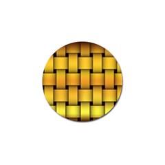 Rough Gold Weaving Pattern Golf Ball Marker (4 Pack)