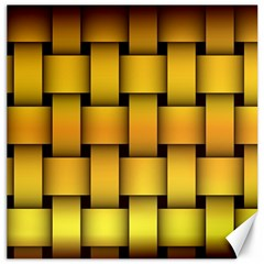 Rough Gold Weaving Pattern Canvas 12  X 12