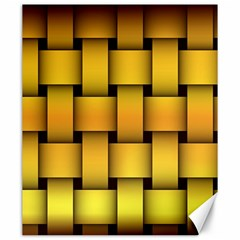 Rough Gold Weaving Pattern Canvas 20  x 24