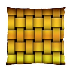Rough Gold Weaving Pattern Standard Cushion Case (one Side)