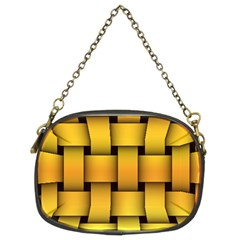Rough Gold Weaving Pattern Chain Purses (two Sides)