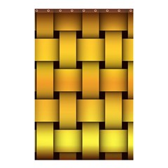Rough Gold Weaving Pattern Shower Curtain 48  x 72  (Small)