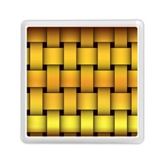 Rough Gold Weaving Pattern Memory Card Reader (square)