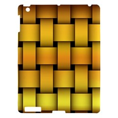 Rough Gold Weaving Pattern Apple iPad 3/4 Hardshell Case
