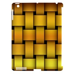 Rough Gold Weaving Pattern Apple iPad 3/4 Hardshell Case (Compatible with Smart Cover)