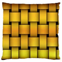 Rough Gold Weaving Pattern Large Cushion Case (Two Sides)