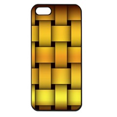 Rough Gold Weaving Pattern Apple iPhone 5 Seamless Case (Black)