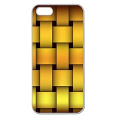 Rough Gold Weaving Pattern Apple Seamless iPhone 5 Case (Clear)