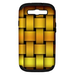 Rough Gold Weaving Pattern Samsung Galaxy S Iii Hardshell Case (pc+silicone)