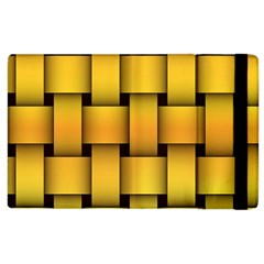 Rough Gold Weaving Pattern Apple iPad 3/4 Flip Case