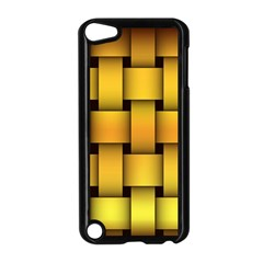Rough Gold Weaving Pattern Apple iPod Touch 5 Case (Black)