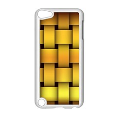 Rough Gold Weaving Pattern Apple iPod Touch 5 Case (White)