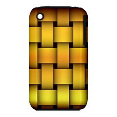 Rough Gold Weaving Pattern iPhone 3S/3GS