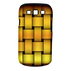 Rough Gold Weaving Pattern Samsung Galaxy S III Classic Hardshell Case (PC+Silicone)