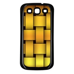 Rough Gold Weaving Pattern Samsung Galaxy S3 Back Case (Black)