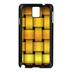 Rough Gold Weaving Pattern Samsung Galaxy Note 3 N9005 Case (Black)