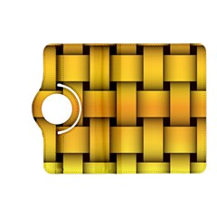 Rough Gold Weaving Pattern Kindle Fire HD (2013) Flip 360 Case