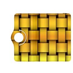 Rough Gold Weaving Pattern Kindle Fire HDX 8.9  Flip 360 Case