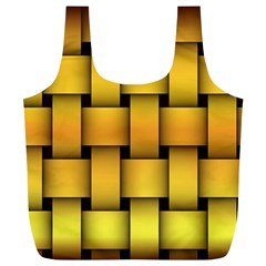 Rough Gold Weaving Pattern Full Print Recycle Bags (L)
