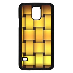 Rough Gold Weaving Pattern Samsung Galaxy S5 Case (Black)