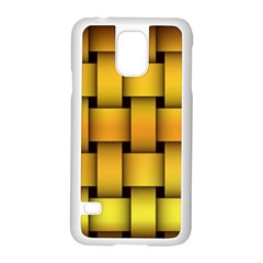 Rough Gold Weaving Pattern Samsung Galaxy S5 Case (White)