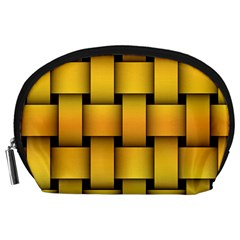 Rough Gold Weaving Pattern Accessory Pouches (large)