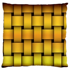 Rough Gold Weaving Pattern Large Flano Cushion Case (two Sides)