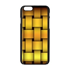 Rough Gold Weaving Pattern Apple Iphone 6/6s Black Enamel Case