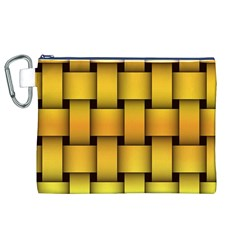 Rough Gold Weaving Pattern Canvas Cosmetic Bag (XL)