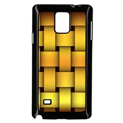 Rough Gold Weaving Pattern Samsung Galaxy Note 4 Case (black)