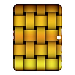 Rough Gold Weaving Pattern Samsung Galaxy Tab 4 (10.1 ) Hardshell Case