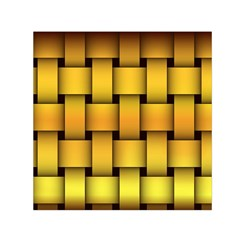 Rough Gold Weaving Pattern Small Satin Scarf (square)
