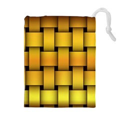 Rough Gold Weaving Pattern Drawstring Pouches (extra Large)