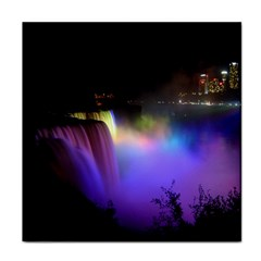 Niagara Falls Dancing Lights Colorful Lights Brighten Up The Night At Niagara Falls Tile Coasters