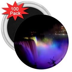 Niagara Falls Dancing Lights Colorful Lights Brighten Up The Night At Niagara Falls 3  Magnets (100 pack)